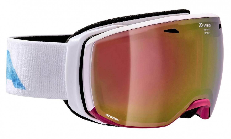 Alpina Estetica MM Skibrille (Farbe: 852 transluzent/pink/white, Scheibe: MULTIMIRROR violet)