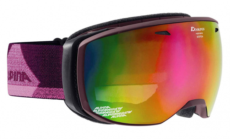 Alpina Estetica MM Skibrille (Farbe: 853 deepviolet, Scheibe: MULTIMIRROR pink)