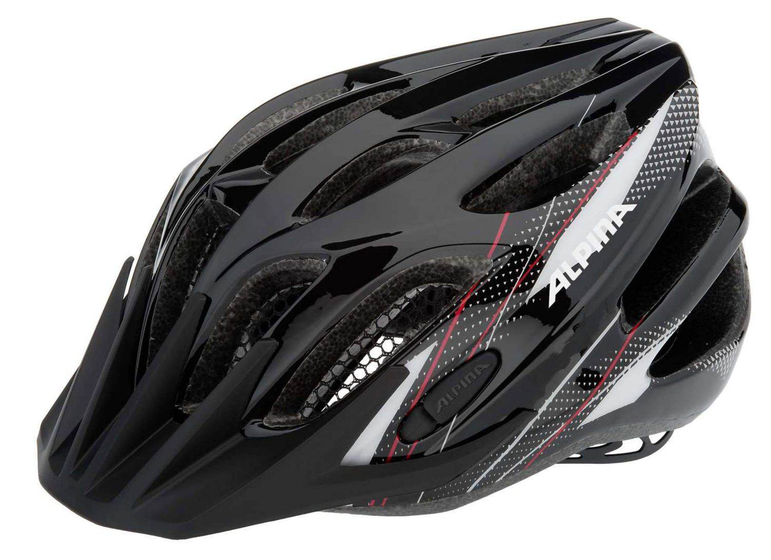 Alpina Firebird Junior 2.0 Flash Radhelm (Größe 50 55 cm, 34 black white red)