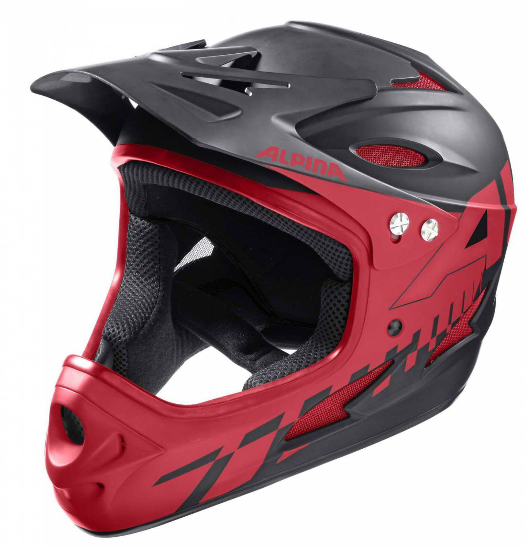 Alpina Fullface Helm (Größe: 57-58 cm, 32 black...