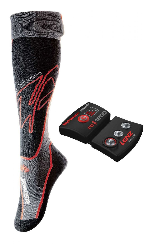 Zanier beheizbare Socken Feet Heat Set (Größe: S (35-38), 20 schwarz)
