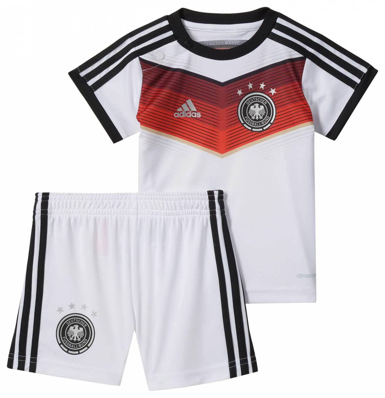 adidas Deutschland Home Weltmeister 4 Sterne Baby Kit Set (Größe 74, white black victory red S04 matte silver)