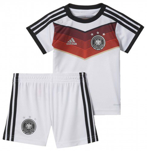 adidas DFB Home Baby Kit Set WM 2014 (Größe 74, white black victory red matte silver)