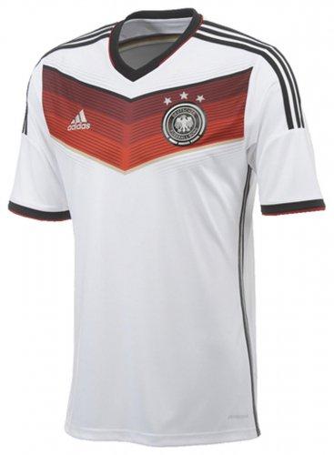 Werben Angebote adidas DFB Home Jersey Deutschland Trikot (Größe: XXL, white/black/victory red/matte silver)