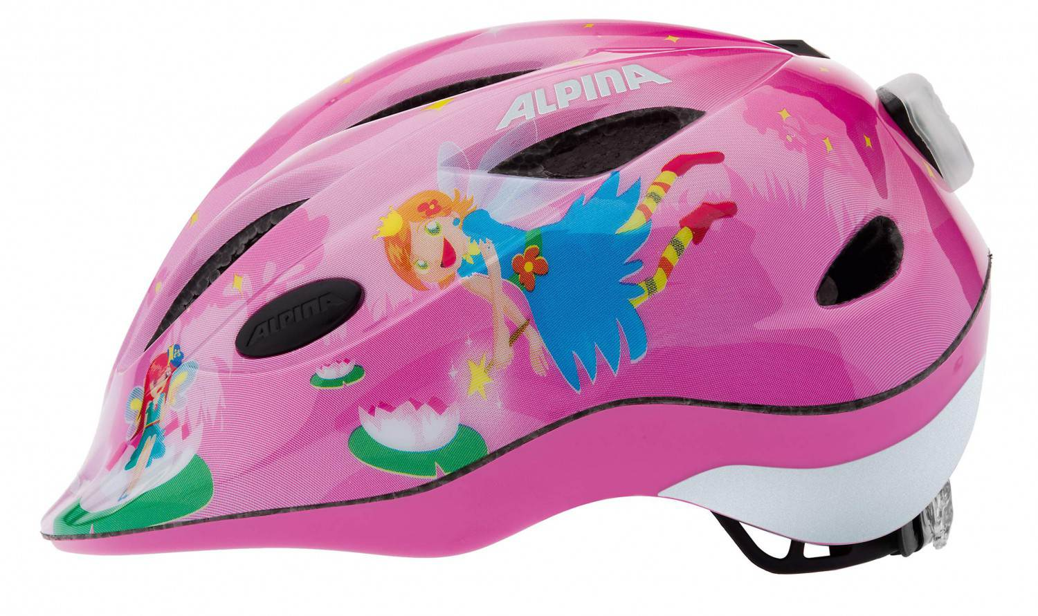 Alpina Gamma 2.0 Flash Kinderfahrradhelm (Größe 51 56 cm, 51 little princess)