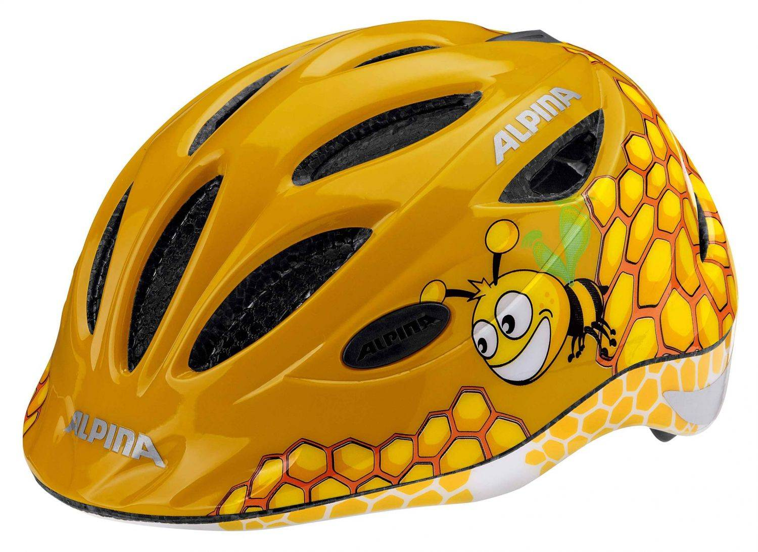 Alpina Gamma 2.0 Flash Kinderfahrradhelm (Größe 46 51 cm, 40 honey bee)