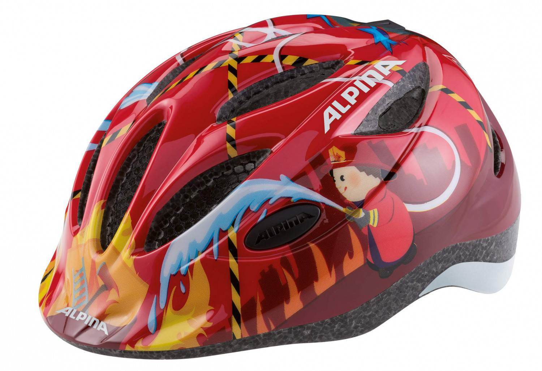 Alpina Gamma 2.0 Kinder Fahrradhelm (Größe 51 56 cm, 54 red firefighter)