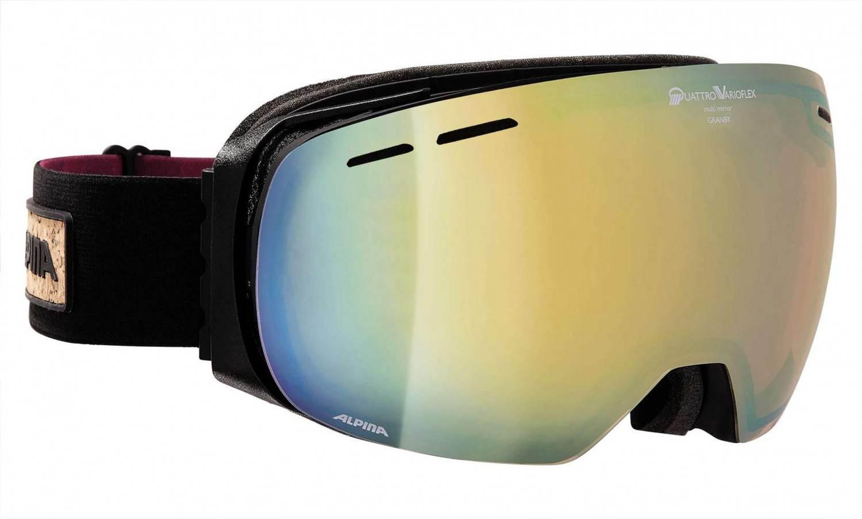 Alpina Granby Rahmenlose Skibrille (Farbe: 733 schwarz matt, Scheibe: QUATTRO-VARIOFLEX MULTIMIRROR) Sale Angebote