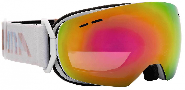 Alpina Granby S Multimirror Skibrille (Farbe: 811 perlweiß, Scheibe: MULTIMIRROR pink)