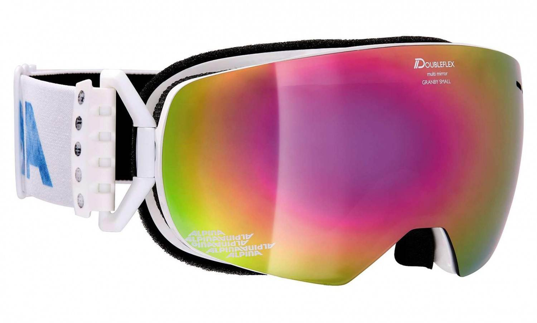 Alpina Granby S Multimirror Skibrille (Farbe: 812 weiß, Scheibe: MULTIMIRROR pink)