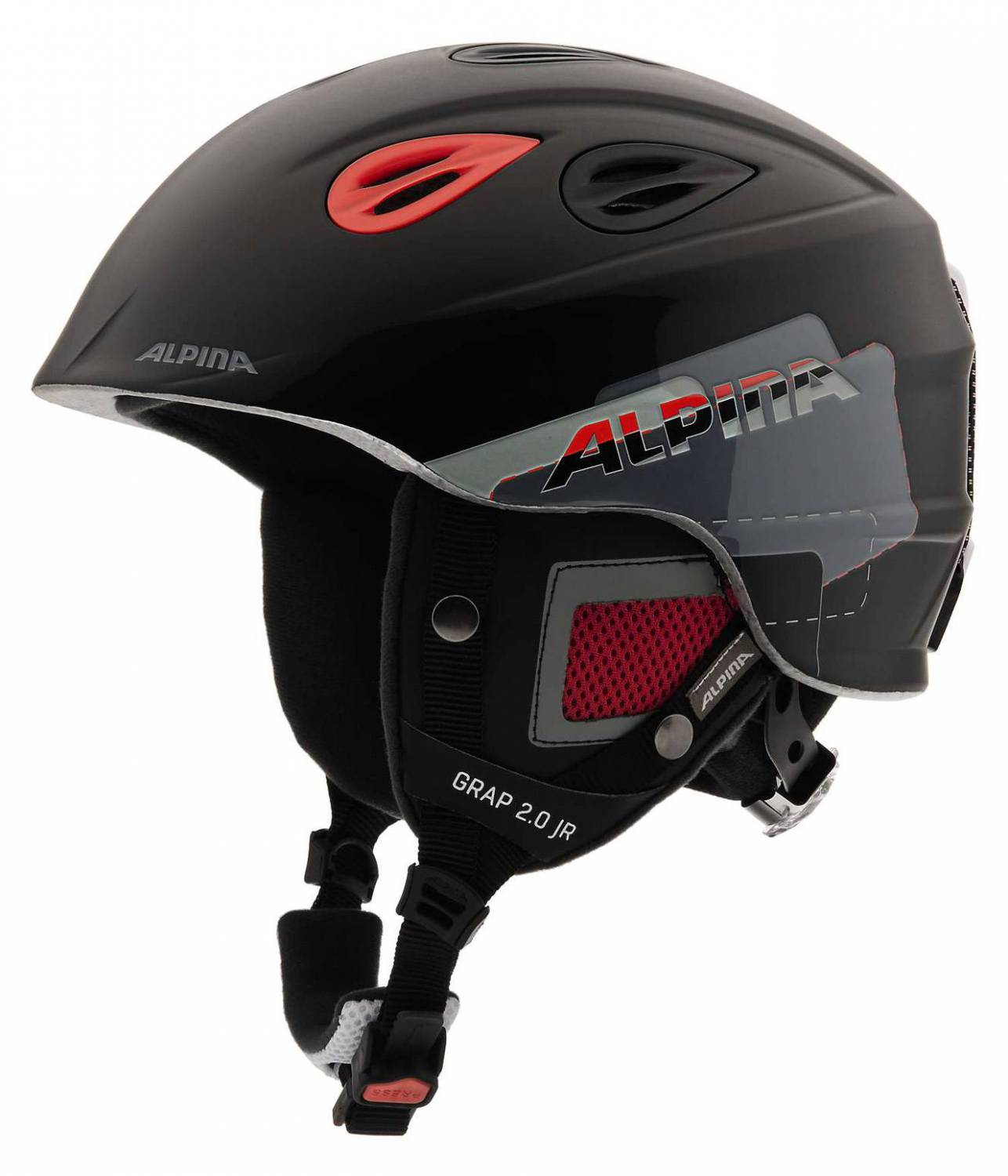 Alpina Grap 2.0 Junior Kinderskihelm (Größe: 51-54 cm, 31 black/red) Sale Angebote Welzow