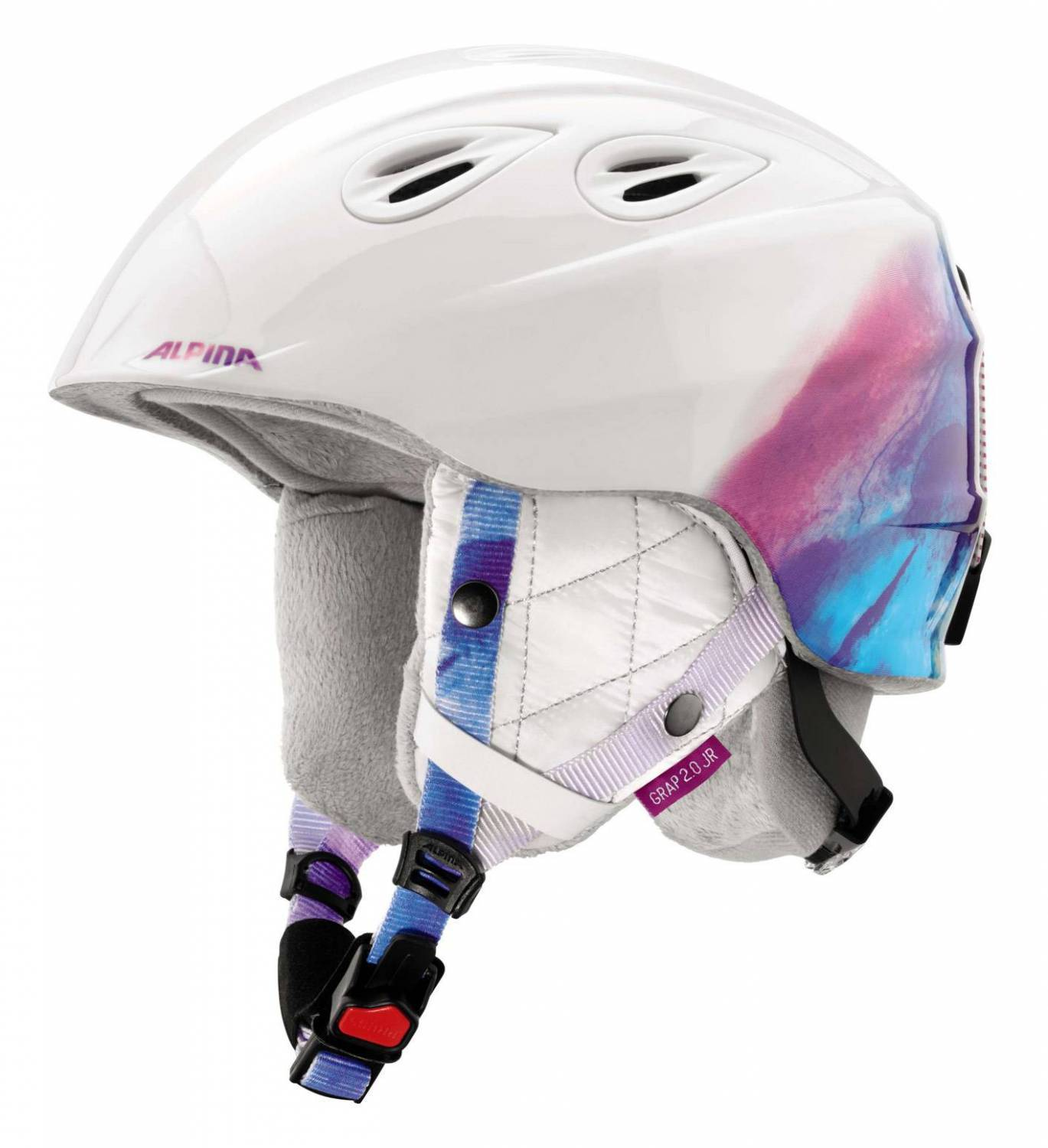 Alpina Kid s Grap 2 0 Ski helmet grey white