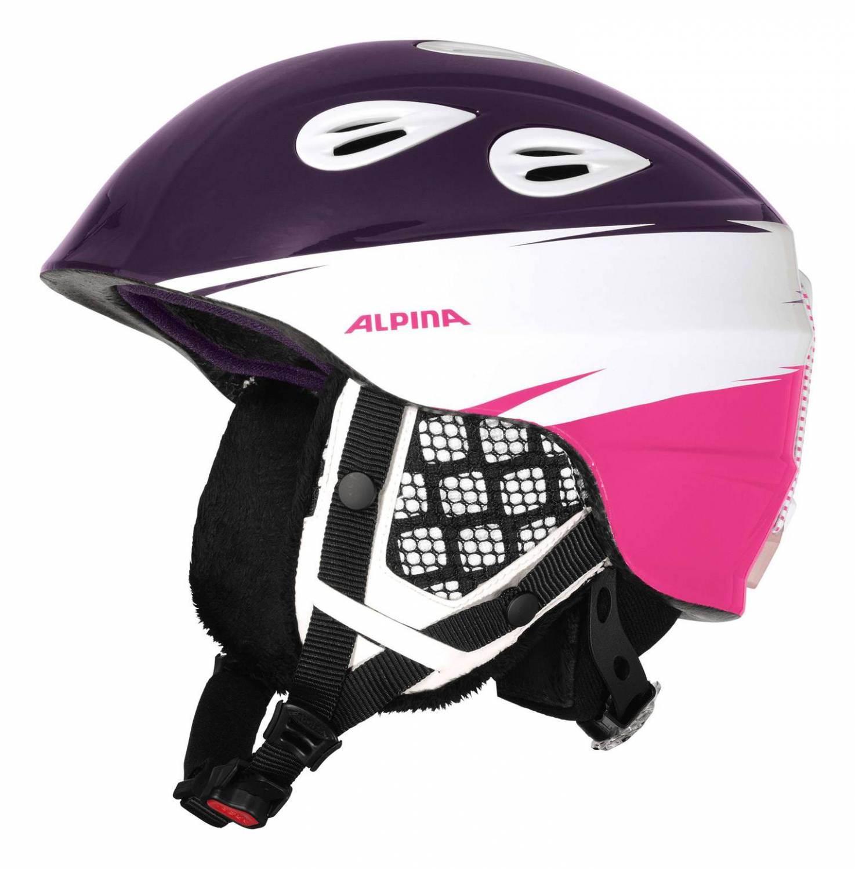 Alpina Grap 2 0 Junior Kinderskihelm Größe 54 57 cm 56 violett pink