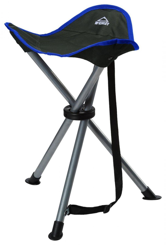 McKinley Campinghocker Dreibein (Farbe: 903 grau/blau) Sale Angebote Haidemühl