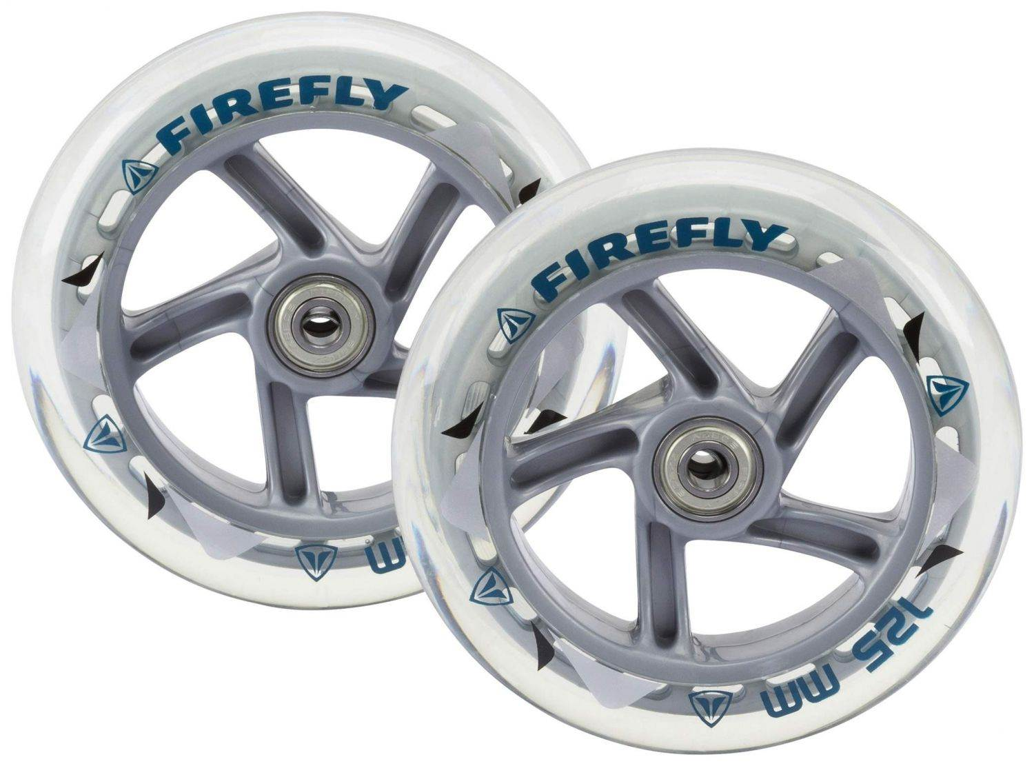 Lindenau Angebote Firefly Scooterrolle 125 mm inklusive Kugellager (Farbe: 893 transparent)