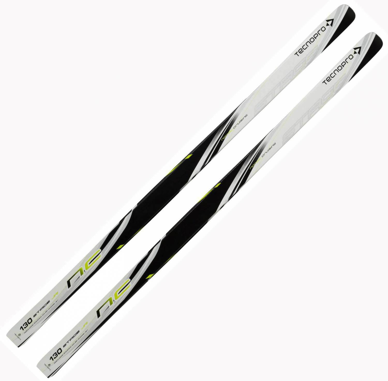 TecnoPro Kinder Langlaufski NC Stage Junior (Skilänge 120 cm (ca. 22 bis 29 kg), 900 weiß schwarz gelb)