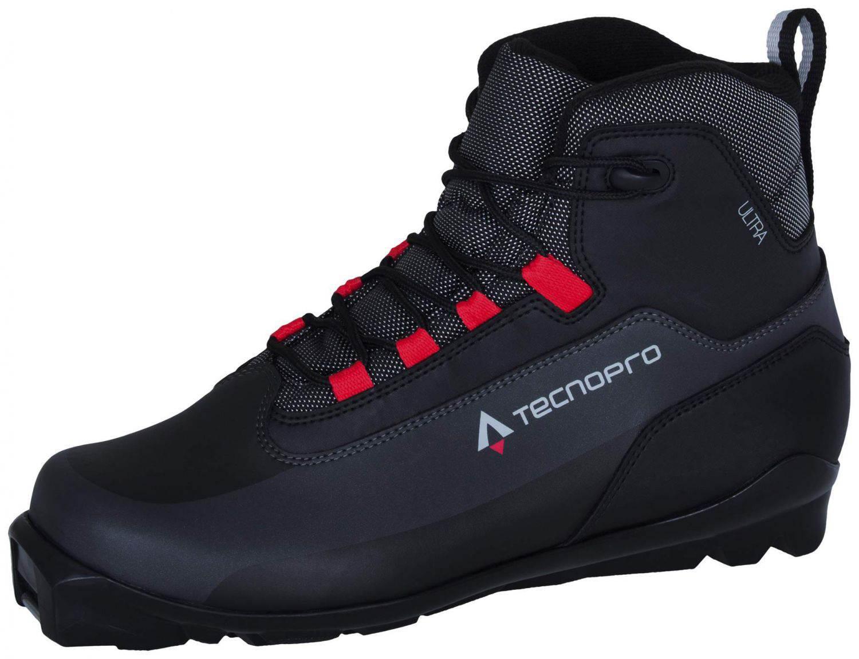 TecnoPro Ultra Langlaufschuh Unisex (Schuhgröße: 38.0 (UK=5.0), 900 schwarz/grau/rot)