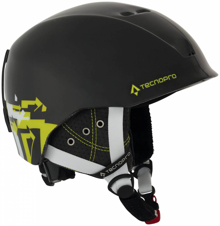 TecnoPro XT IS8 Team Skihelm (Größe: 51-54 cm, 902 schwarz/grün/lime)
