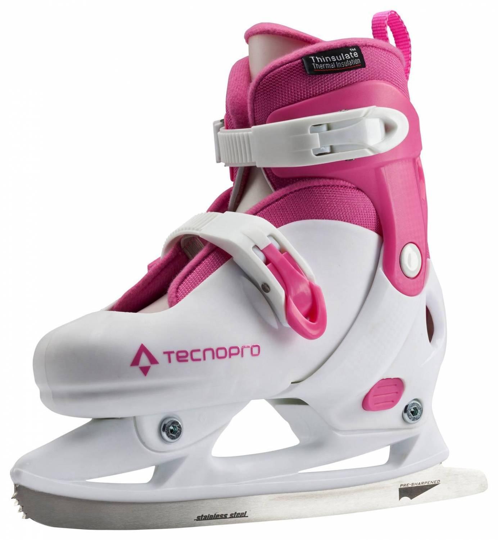 TecnoPro Lea Jr. verstellbarer Kinderschlittschuh (Größe 33.0 36.0, 901 pink weiß)