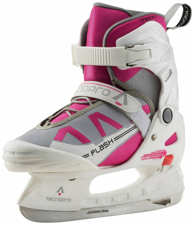 TecnoPro Flash Jr. Girl II Kinderschlittschuh (Größe 37.0 40.0, 901 weiß pink)