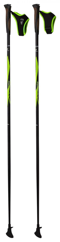 Pro Touch Impulse Nordic Walking Stock (Stocklänge: 125 cm (über 187 cm), 900 schwarz/grün/weiß)