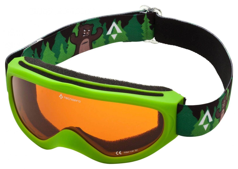 TecnoPro Snowfoxy Plus Skibrille (Farbe: 901 grün/dunkelgrün)
