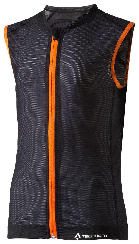Gablenz Angebote TecnoPro Fortress Junior 3.0 Rückenprotektor (Größe: L, Körpergröße ca. 152-164 cm, 900 black/orange)