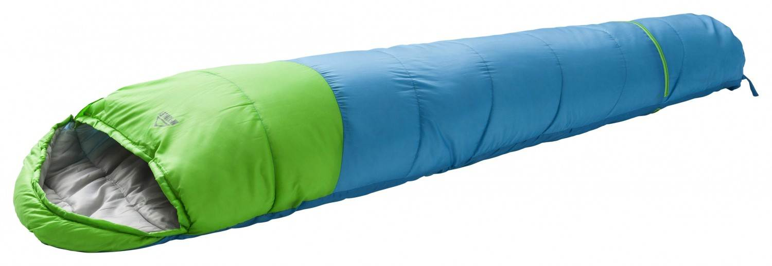 McKinley Junior EXT Mumienschlafsack (Farbe: 900 grey/light/lime/blue, RV links)