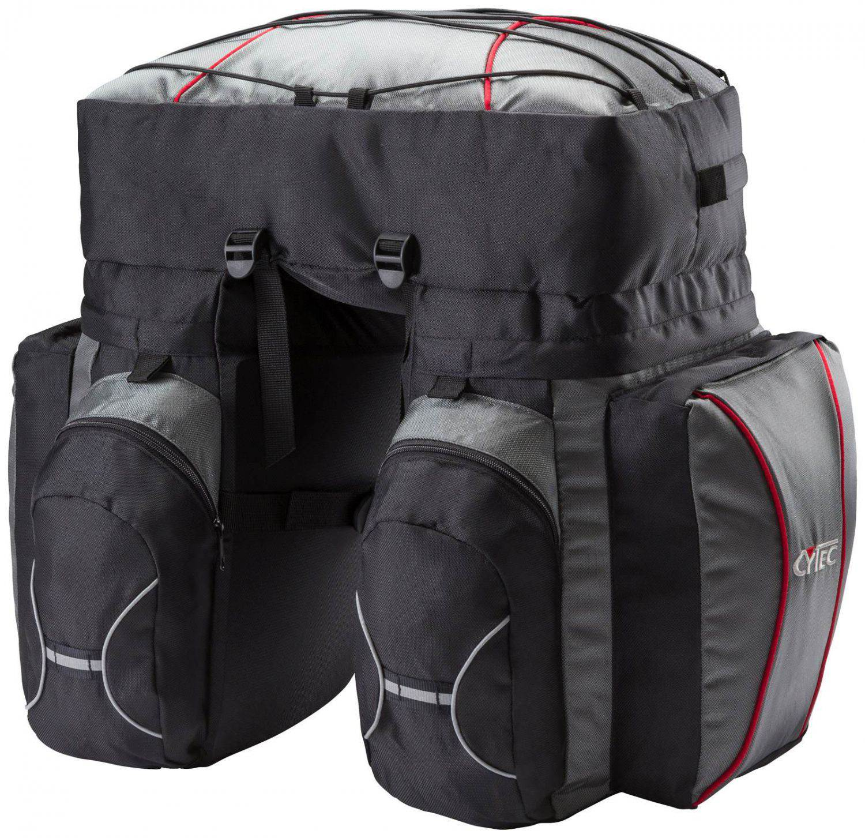 cytec fahrrad packtasche travel 3 fach ebay. Black Bedroom Furniture Sets. Home Design Ideas