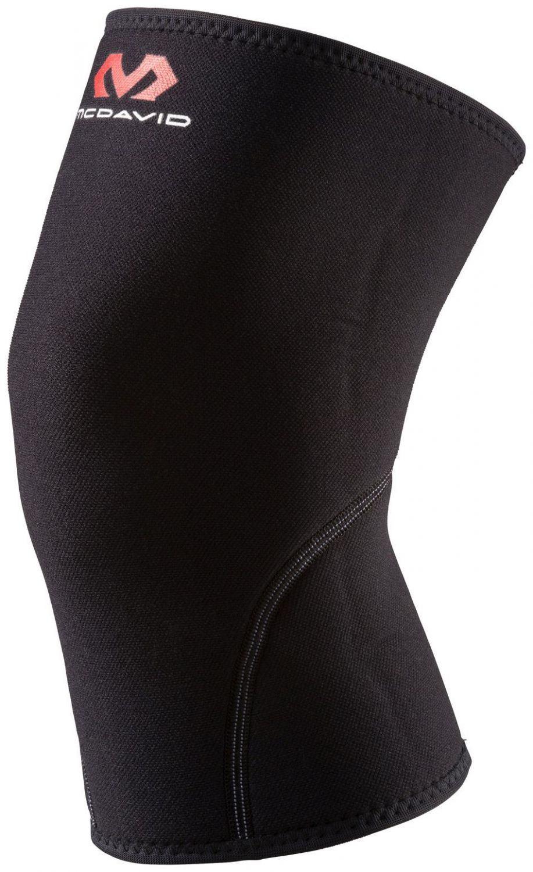 McDavid Kniebandage (Größe: L (Umfang Knie = 38-43 cm), 050 schwarz)