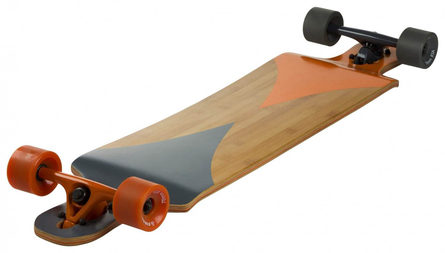 firefly bamboo longboard farbe 900 grau orange bamboo. Black Bedroom Furniture Sets. Home Design Ideas