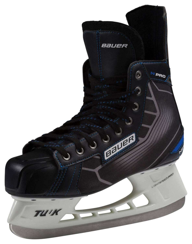 Bauer Nexus Pro Skate Schlittschuhe (Größe: 11.0 = 47.0, 900 schwarz/blau)