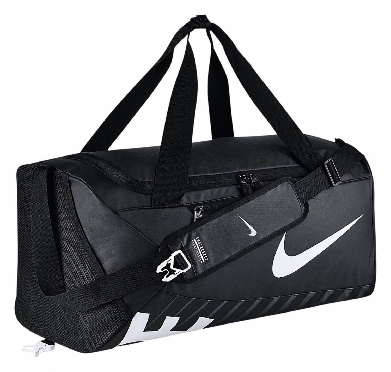 Nike Duffel Medium Sporttasche (Farbe: 010 schwarz/schwarz/weiß)
