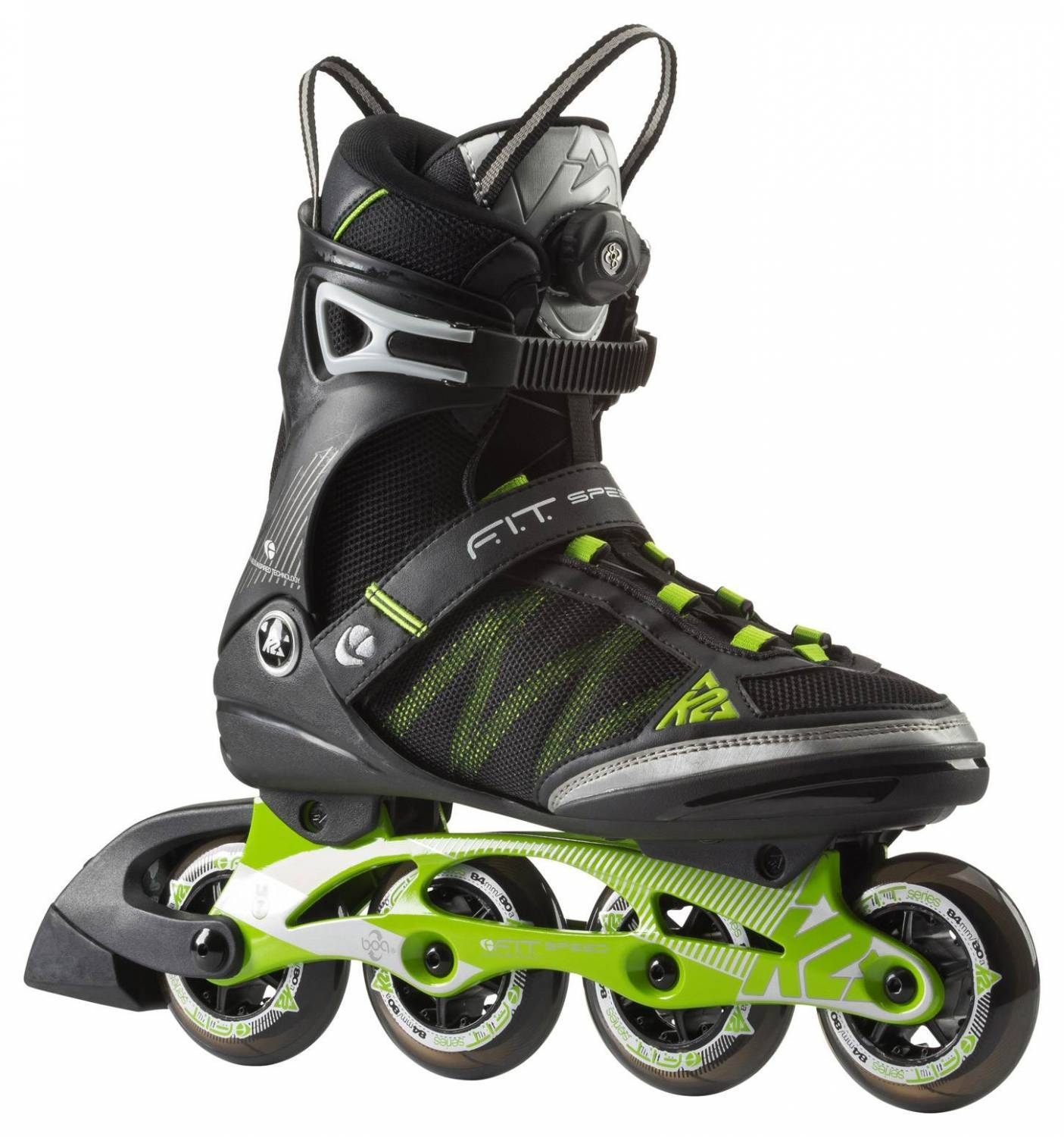 K2 F.I.T. 84 Speed Boa Man Inlineskates (Größe: 40.0 (US=7.5), 1 design)