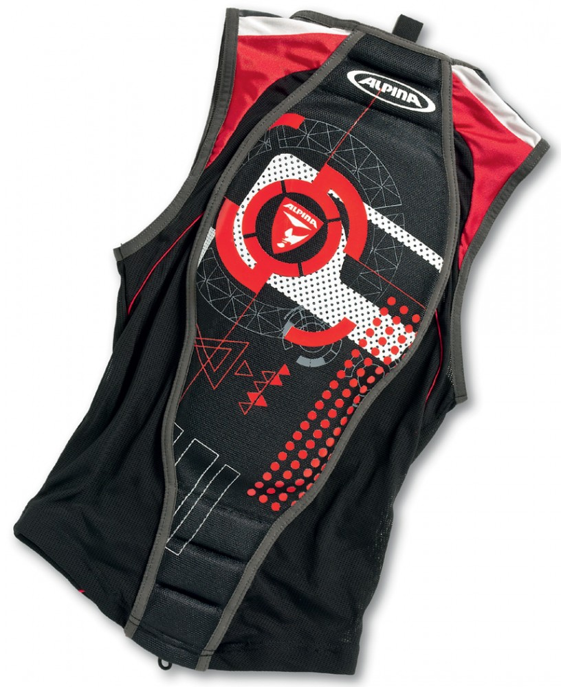Gablenz Angebote Alpina Jacket Soft Protektor II (Größe: XL = Körpergröße ca. 185 cm, 33 schwarz/rot)