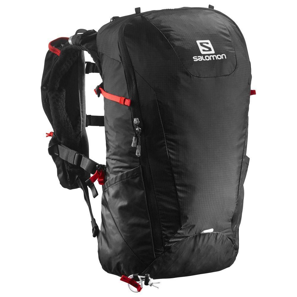 Salomon Peak 20 Wanderrucksack (Farbe: black/bright red) Preisvergleich