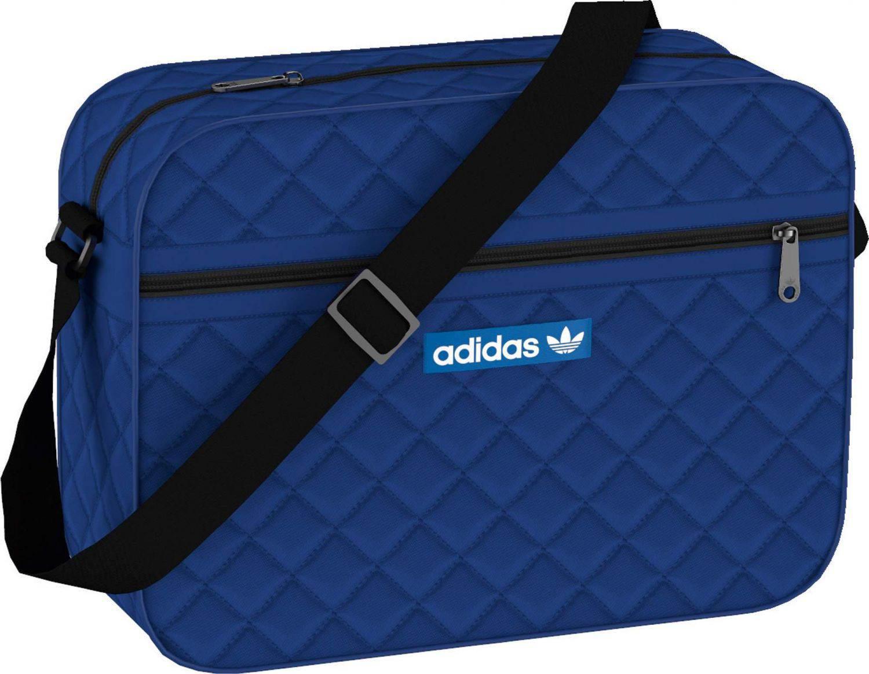 adidas Nylon Airliner Schultertasche (Farbe  collegiate royal black  bluebird) 5cf7d7bca0fe8