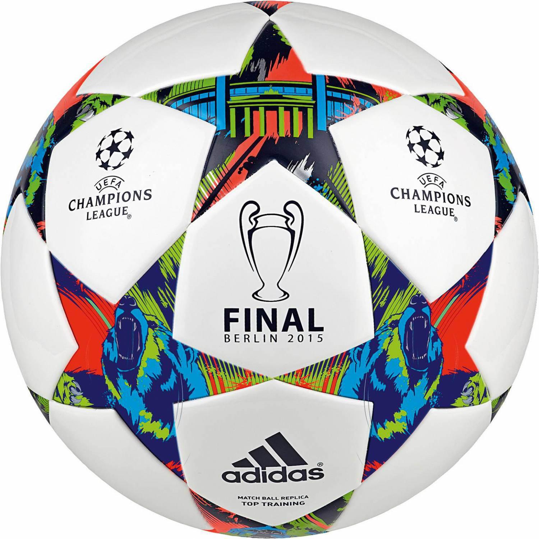 Schmogrow-Fehrow Angebote adidas Finale Berlin Top Trainingsball (Größe: 5, white/solar blue2 s14/flash green s15)