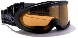 Alpina Magnum Brillenträger Skibrille (Farbe: 031 schwarz, Scheibe: QUATTROFLEX)