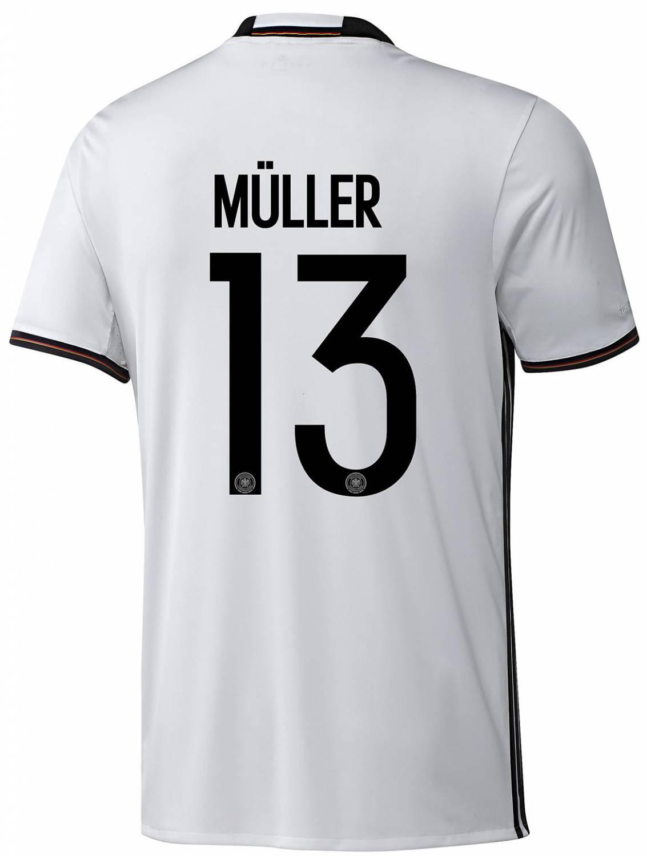adidas DFB Home Jersey Müller (Größe: S, white)