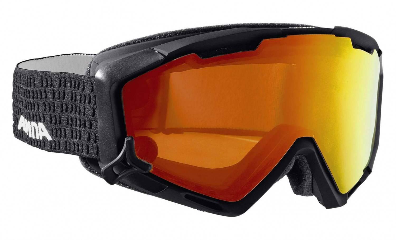 Hermsdorf Angebote Alpina Panoma Magnetic Brillenträgerskibrille (Farbe: 032 schwarz matt, Scheibe: QUATTROFLEX MULTIMIRROR rot)