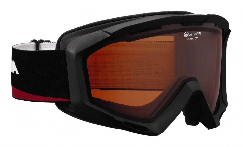 Alpina Panoma Brillenträger Skibrille (Farbe: 032 schwarz/rot, Scheibe: QUATTROFLEX) Sale Angebote