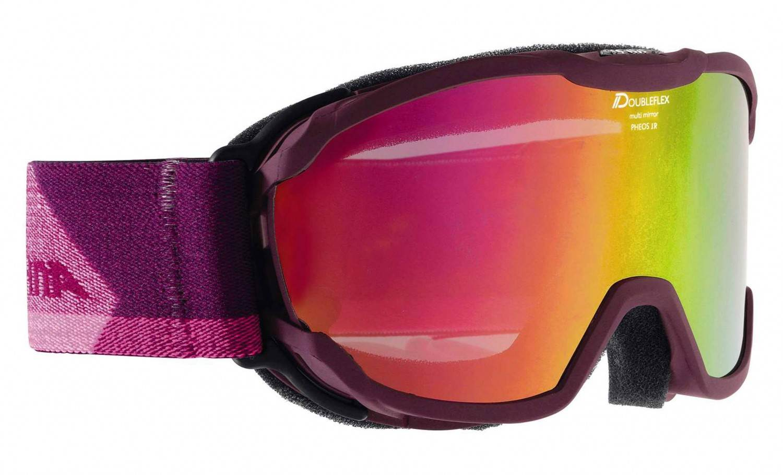 Alpina Pheos Junior Multimirror Skibrille (Farbe: 853 deepviolet, Scheibe: MULTIMIRROR pink)