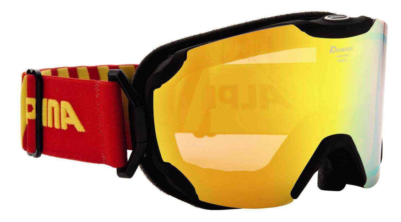 Schipkau Angebote Alpina Pheos Small MM Skibrille (Farbe: 831 schwarz matt, Scheibe: MULTIMIRROR rot)