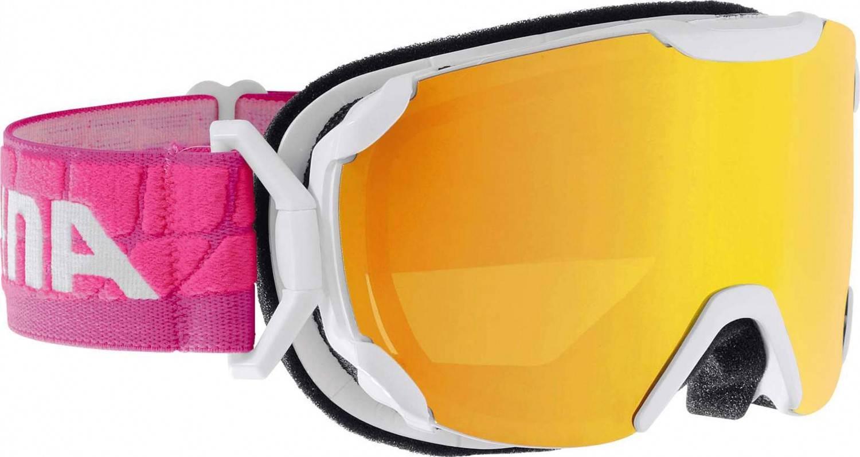 Alpina Pheos Small Multi Mirror Skibrille (Farbe: 815 weiß/pink, Scheibe: MULTIMIRROR oange)
