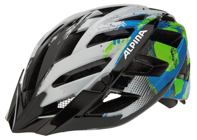 Alpina Fahrradhelm Panoma (Größe: 56-59 cm, 18 white/cyan/green)
