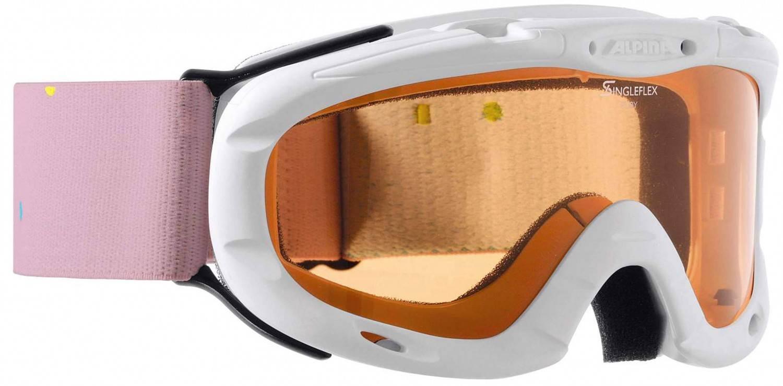 Alpina Ruby S Skibrille (Farbe: 412 white/polka, Scheibe: SINGLEFLEX)