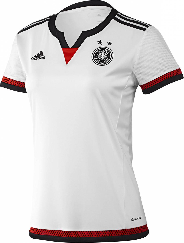 Tschernitz Angebote adidas Deutschland Frauen Home Jersey (Größe: L 44-46), weiß/schwarz/scarlet)