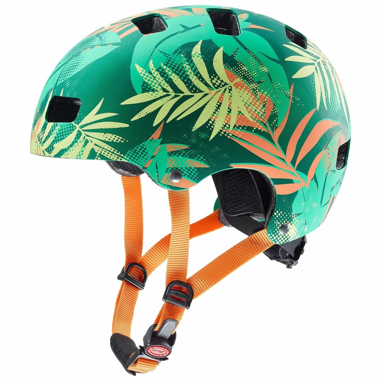 uvex Kid 3 cc Kinder Fahrradhelm (Größe 51 55 cm, 02 green orange)