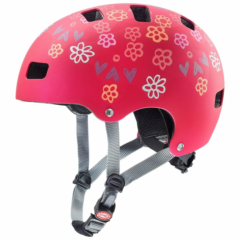 uvex Kid 3 cc Kinder Fahrradhelm (Größe 51 55 cm, 03 dark red)